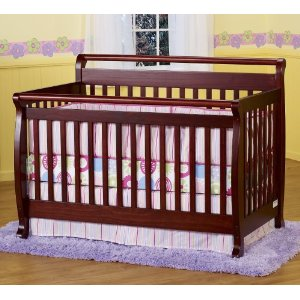 Crib Beautiful Cherry Baby Crib $169.00!!