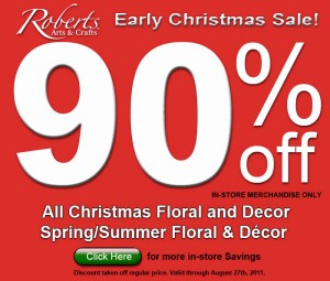 week34 4 01 300x255 Roberts Arts and Crafts Early Christmas Sale 90% off