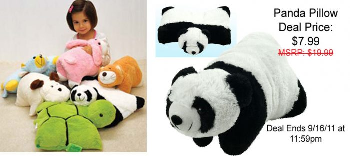 78 1 20110914205001 cuddlee pet banner Cuddlee Pet Panda Pillow for just $7.99