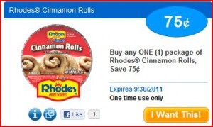 Rhodes Cinnamon Rolls 300x179 HOT! Saving Star Loadable Coupons