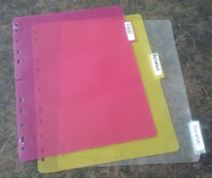 Tabbed pages 300x251 Coupon Organization   Binder Method