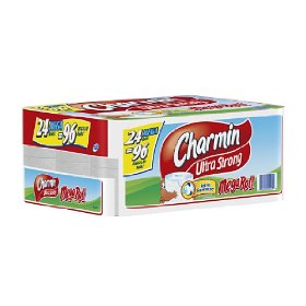 Charmin Its Back!  WOW!  Charmin 24 Mega Rolls (96 Regular) $22.05 Shipped Free!!