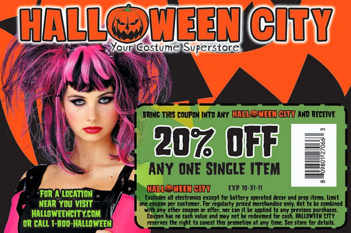 Halloween coupons party city