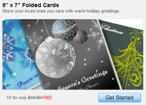 10 free christmas cards 300x216 20 FREE 5x7 Holiday Cards from Staples
