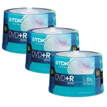 213348832 Buy.com TDK DVD+R 16X 4.7GB 150 Discs (3   50pk Spindles) 3 for 1 Only $21.99