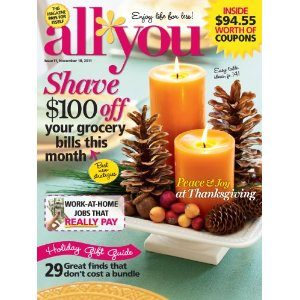 All You Magazine All You Subscription $19.95 on Amazon.