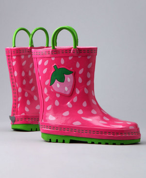 Zulily berry pink boots Berry Pink Umbrella and Rainboots, starts at $7.99