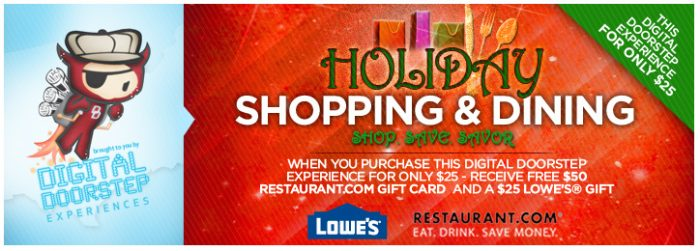 Spend $25 and Receive A $25 Lowe\'s Gift Card & Free $50 Restaurant ...