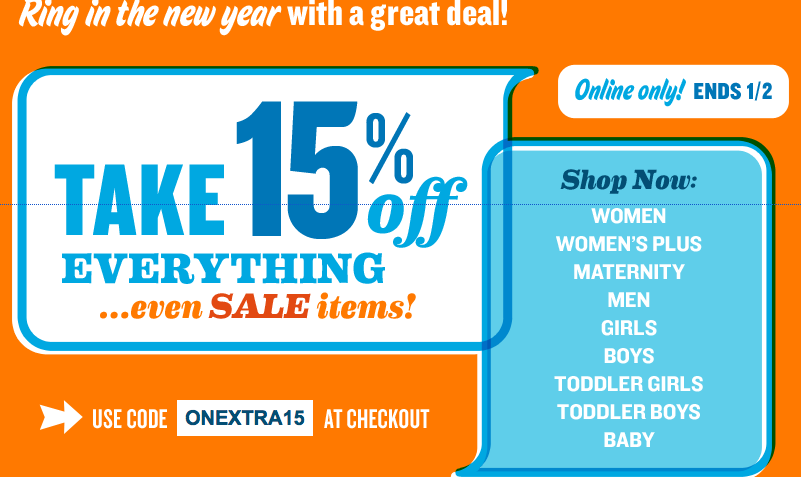2011 12 30 01.11.42 pm Old Navy Take 15% Off Everything Even Sale Items!