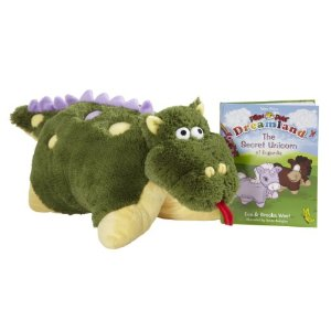 Dragon Pillow Pet Deal Hot!  New Pillow Pets.  Dragon with Book $14.99 (Reg $32.99)!  Or Unicorn $13.99.  Free Shipping!