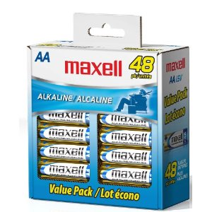 Maxell Batteries Deal Energizer AAA Batteries only 34¢ each!  Hot Stock Up Price!