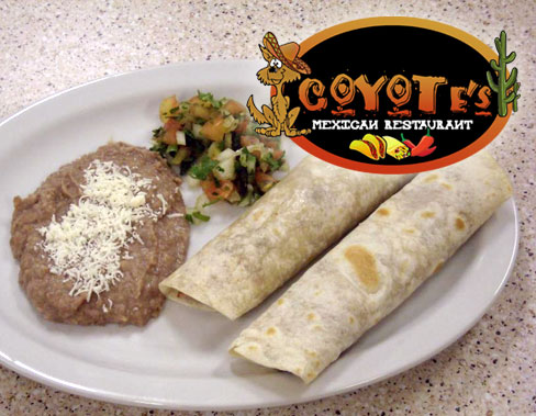 homepage Coyotes Get $20 of Mexican Food for only $10 at Coyotes Mexican Restaurant... NEW in Orem!