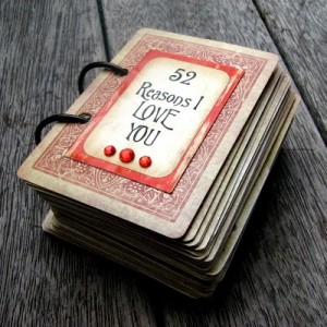 52 Reaasons I Love You Idea 300x300 Inexpensive Valentines Gift   Deck of Love Cards