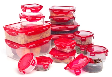 BPA free airlock containers deal Lock & Lock Airtight 32 Piece Set   $14.99