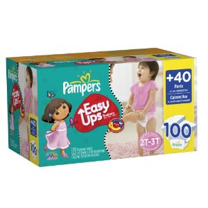 Pampers Easy Ups Deal1 Pampers Easy Ups Training Pants for Boys and Girls $22.49 for 100 Count Box!  Free Shipping!
