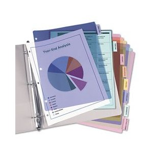 Plastic Dividers Deal Plastic Dividers for your Coupon Binder $1.69 (Reg $3.99) Free Shipping