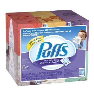 Puffs Deal *Back* Puffs Tissues 6 Family Boxes $7.50  Free Shipping