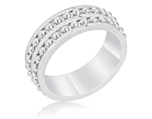 RRS43 Stainless Steel Mens Ring With Twin Ball Bearing Chain Inset $7.98 Shipped (Save $77)