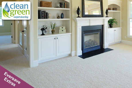 Save 460x305 53167 $29 for two rooms of carpet cleaning from Clean Green Carpet Cleaning