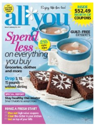 all you magazine deal Reminder:  All You Magazine $1/issue 1 year