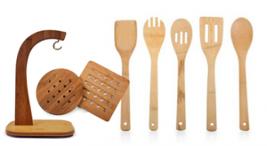 bamboo kitchen set deal 300x165 8 Piece Kitchen Bamboo set $14.94 shipped ($1.86 a piece!)