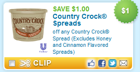 country crock spreads printable coupon deal Last Chance Coupons: $1 Country Crock, $1 Cereal, $1 Dial + more...