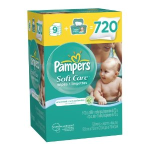 Pampers Wipes Deal1 Pampers Wipes 720 ct $14.29 shipped = 1.9 cents/wipe