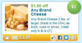 cheese coupons $2.99 for 2 lbs of cheese at Maceys!