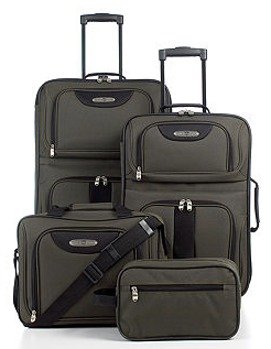 macys luggage set deal 4 Piece Macys Luggage Set   $49.99