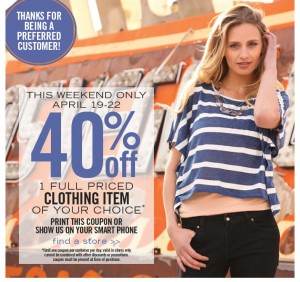 Downeast Coupon Deal 300x282 DownEast Clothing:  40% Off Coupon