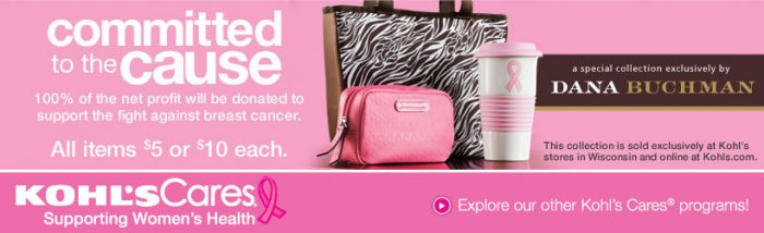 Kohls Cares Dana Buchman Deal *Hot*  Kohls Cares Dana Buchman Collection 50% off = $2.50 and $5.00 Items!
