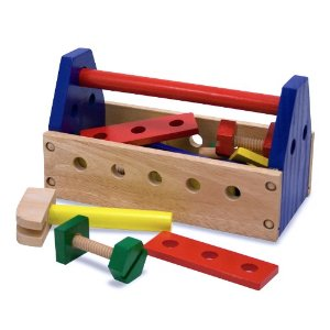 Melissa Doug Dool Set Deal *Hot* Melissa & Doug Wooden Take Along Tool Kit $5.59!