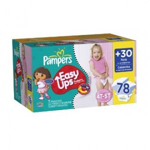 Pampers Easy Ups for Girls Deal 300x300 AAA Deal:  Pampers Easy Ups Girls Training Pants $.22 Each!