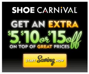 Shoe Carnival coupon deal 300x251 Suprise $5, $10 or $15 off Shoe Carnival Coupon (online or instore)