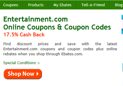 Sign up for ebates step 4 Cash back for using Ebates