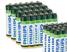 phillips batteries deal free shipping 24 pack of Philips batteries   $4.99 shipped ($.83/4pk)