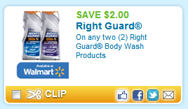 right guard coupon $2 Right Guard coupon   no size restrictions!