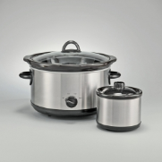 slow cooker deal 5 Qt. Slow Cooker with Bonus Dipper pot   $18.88 (reg $50)