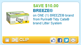 tidy cats litter system deal $10 off coupon for Tidy Cats Litter System