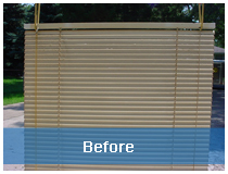 Blind Cleaning Best Before Image Giveaway:  10 Non Wood Blinds Cleaned for FREE from Rally's Blind Cleaning!