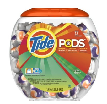 tide pods 77 ct deal Tide Pods $19.22 ($.25 / load + Stain Remover and Brightener)