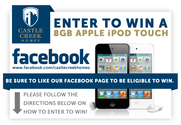 Castle Creek Homes2 *Last Day To Enter* Giveaway:  Apple 8GB iPod Touch!