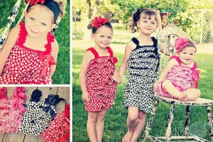 Pick Your Plum Deal 300x200 Little Girls Rompers only $6.95