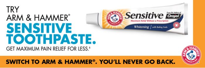 Sensitive Toothpaste Deal Free Sample:  Arm & Hammer Sensitive Toothpaste