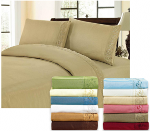 microfiber sheet set deal utah deals 300x261 *HOT* Brushed Microfiber Sheet Sets $19.99 shipped (every size!)