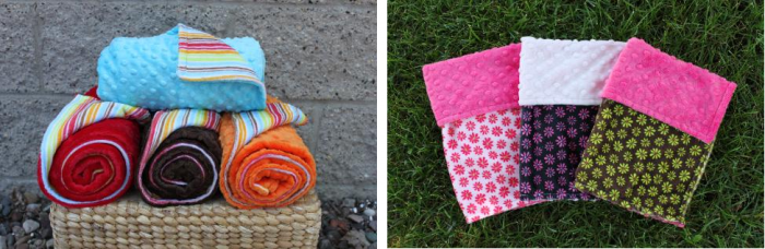 Bebe Bella Weekly Deal Bebe Bella Designs: 70% Off ALL Minky Chenille Blankets, Bibs, and Burpies!