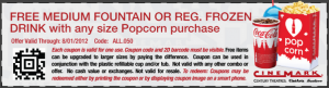 Cinemark free drink coupon 300x81 Cinemark Weekly Coupon: Free Drink with Popcorn Purchase!