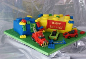 Lego Birthday Cake 300x206 Lego Party Supplies and Ideas!