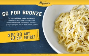 Macaroni Grill Coupon 300x190 Macaroni Grill Coupon: $5 off Any Entree!