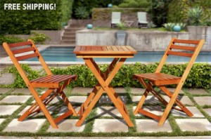 Premium Bistro Set 300x198 Eucalyptus Table and Chair Bistro Set $59 Shipped!
